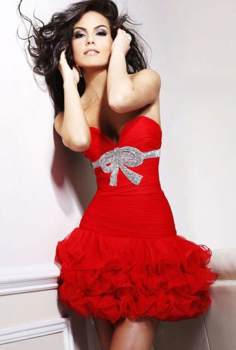 Picture of Silk-satin dress