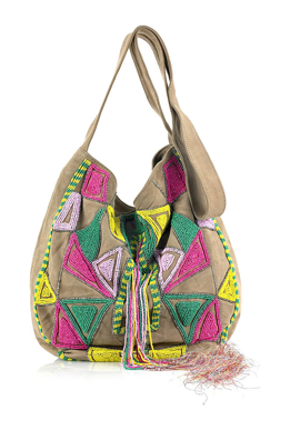Picture of Beaded Suade Handbag