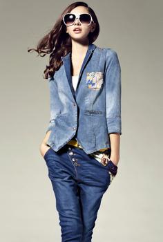 Picture of Elegant Patchwork Silk Short Jacket