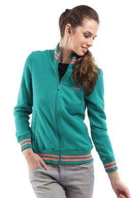 Picture of Green Women's Zip-Sweatshirt